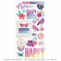 CV-Bohemian Dream Chipboard Stickers