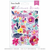 CV-Bohemian Dream Die Cut Ephemera (57pcs)