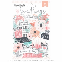 CV-Love Always Die Cut Ephemera