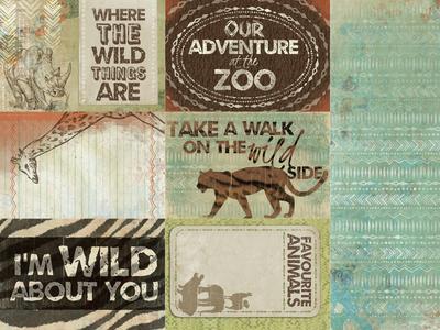 Animalia Kaisercraft 12x12 scrapbooking papier dans le wild Collection